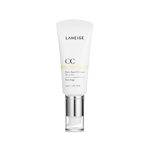 Closeup   laneige  water base cc cream  pure beige