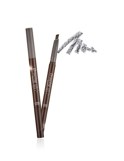 Closeup   drawing eye brow 5 grey